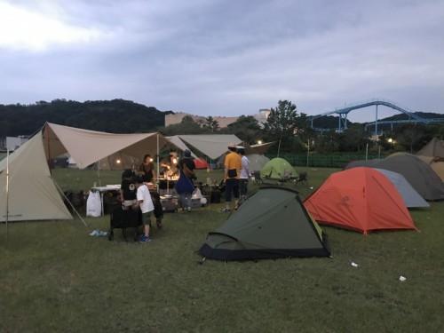 キャンプサイトで3日間を過ごします。